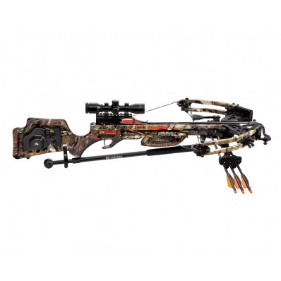 Wicked Ridge Raider CLS Premium Crossbow Pkg with 3x Multi-Line Scope and ACU-52 Cocking System - Mossy Oak Breakup Infinity