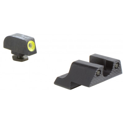 Trijicon HD Night Sight Set - Yellow Front Outline for Glock Pistols 42 & 43