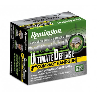 Remington Compact Handgun Defense Ammunition 9mm Luger 124 gr BJHP  20/box