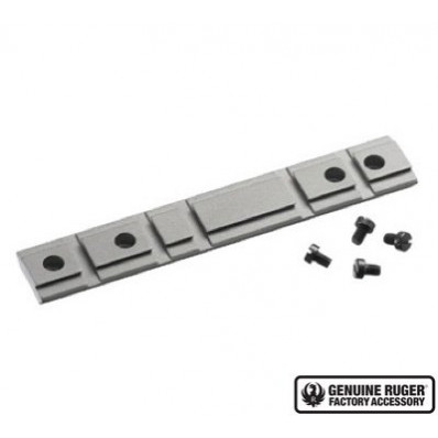 Ruger 1-Piece Weaver-Style Aluminum Combination10/22 Rifle Scope Base Adapter - Silver Powder Coated