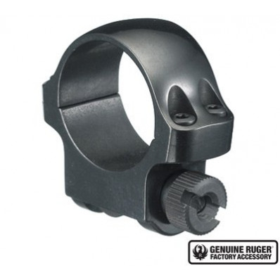 """Ruger Scope Ring, Single 1"""" Low .812 Height - Blued"""
