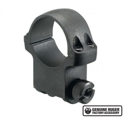 """Ruger Steel Scope Ring- Single 30mm High 1.062"""" Height- Hawkeye Matte Blued"""