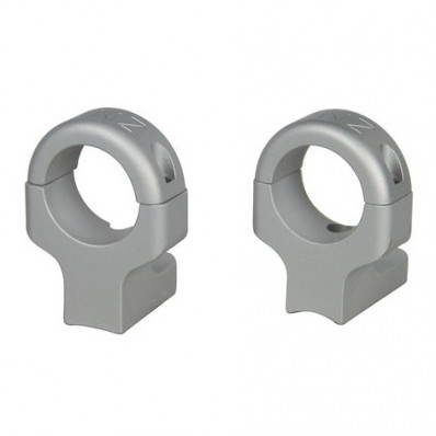"DNZ 2-Piece Hunt Masters Aluminum Ring Mount - 1"" High, Silver Fits Howa 1500, Mossberg 100ATR, 4X4, MVP, Weatherby Vanguard, Remington 700,721,722,725 (fits all action lengths)"