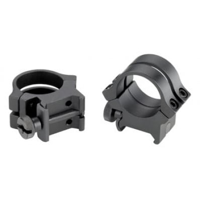 """Weaver Quad Lock Detachable Rings .22 Tip Off for 3/8"""" Grooved Receiver, Matte"""