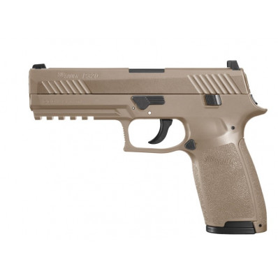 Sig Sauer P320 .177 cal CO2-Powered ASP Pistol w 30/rd Belt Magazine 12 Gram CO2 Cartridge - Coyote