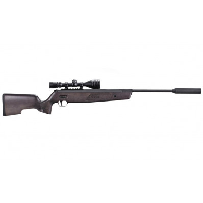 Sig Sauer SSG ASP20 Airgun Rifle .22 cal 20FP Wood Stock Suppressor Whiskey3 Scope ASP