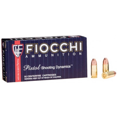 Fiocchi Pistol Shooting Dynamics Centerfire Handgun Ammunition 9mm Luger 147 gr FMJ 50/Box