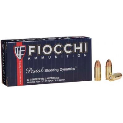 Fiocchi Pistol Shooting Dynamics 9mm Luger 115 gr FMJ 50/Box