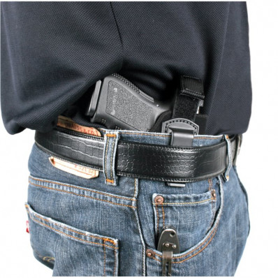"Blackhawk! Inside-the-Pants Holster - Right Hand Fits 2-3"" bblSm./Med Double Action Revolver (Except 2 & #82) Black"
