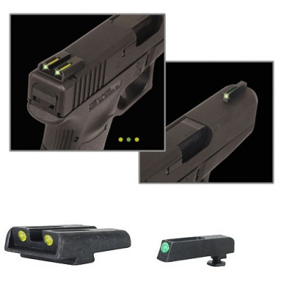 Truglo Brite Site TFO for Glock 42/43 Set Sights Green/Green