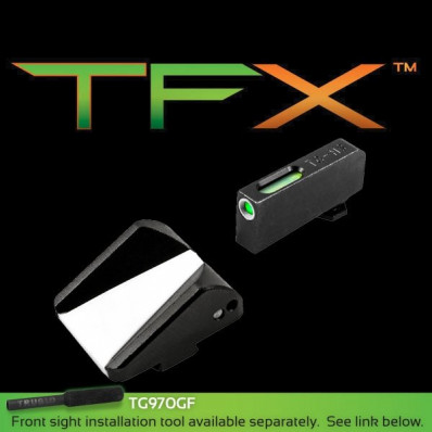 Truglo TFX Tritium Fiber Optic XTREME Handgun Sight Fits Glock