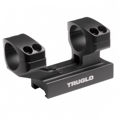 """Truglo 1-Piece Reversible Picatinny/Weaver Tactical Scope Mount with 1"""" Rings 1""""H / 2-7/8L Base - Black"""