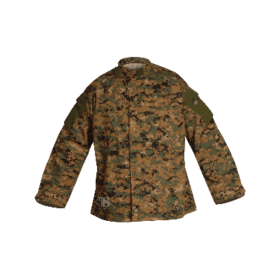 Tru-Spec Tactical Response Uniform 65/35 (TRU) Shirt - Digital Woodland Medium