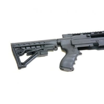 Archangel 556 Conversion Stock for Ruger 10/22 - Black with Extended Monolithic Rail Forend (AA556R-EX)