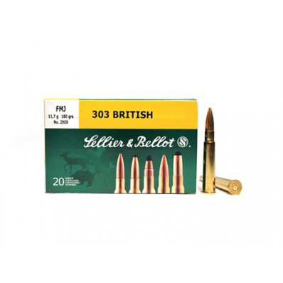 Sellier & Bellot Rifle Ammunition .303 British 180 gr SP  - 20/box