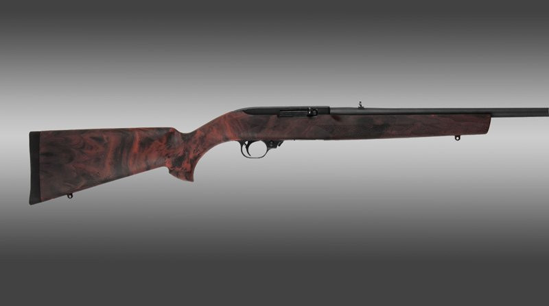 Hogue Ruger 10 22 920 Quot Barrel Red Lava Rubber Overmolded
