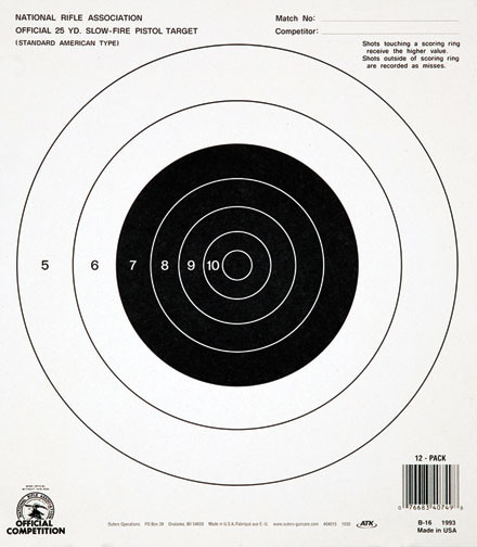 Crush image for printable nra pistol targets