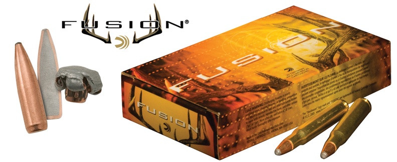 Federal Fusion Rifle Ammunition  308 Win 165 gr BTSP 2700 fps - 20/box