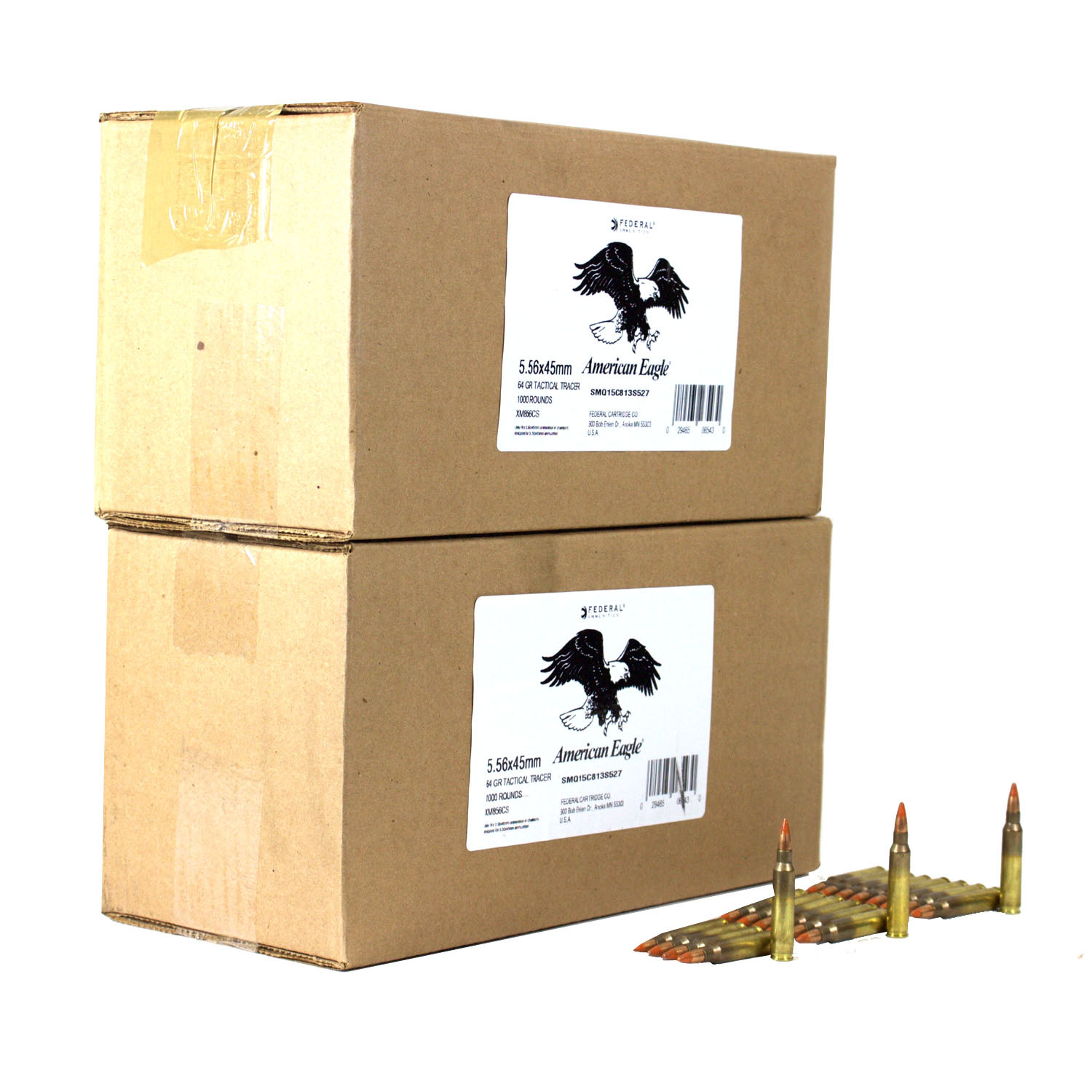 Federal M856 Tracer Rifle Ammunition 5.56mm 64 Gr Tracer