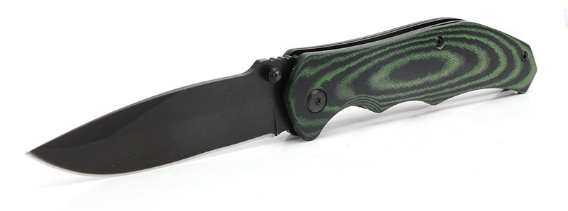 HME Camping/Survival/EDC Folding Pocket Knife with Micarta Handle - 4-1/2