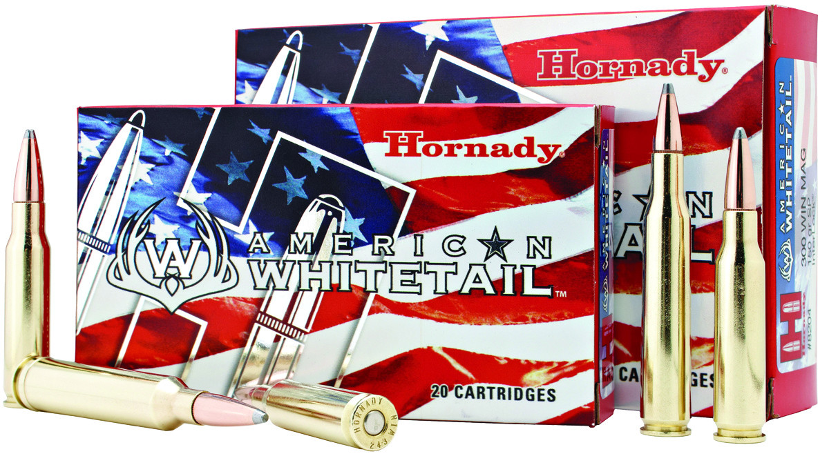 Hornady American Whitetail Rifle Ammunition  30-06 Sprg 180 gr 2700 fps SP  20/ct