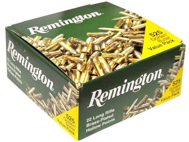 remington golden bullet rimfire ammunition 22 lr 36 gr hp 525 box