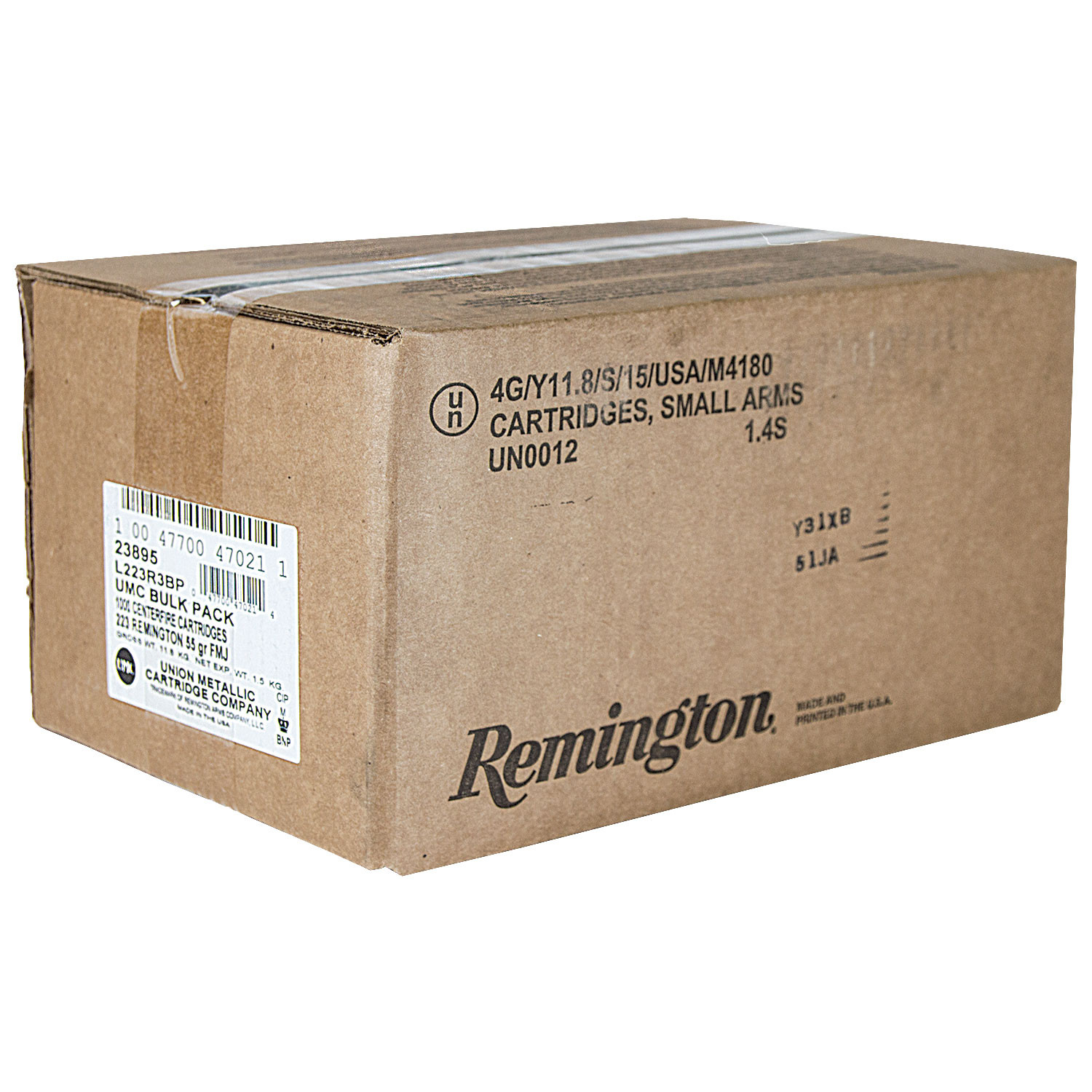 Remington UMC Bulk Rifle Ammunition  223 Rem 55gr MC 1000/ct