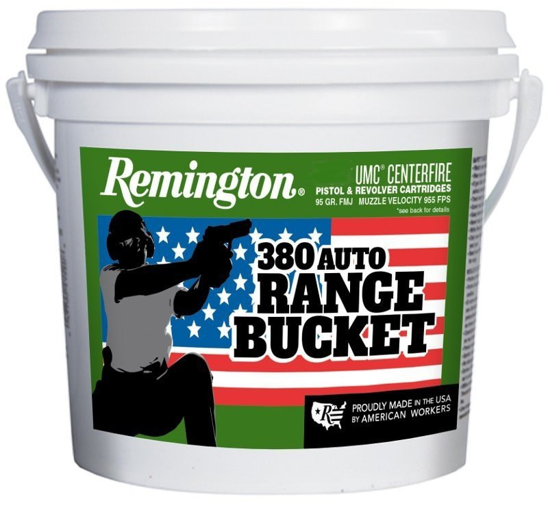 Remington Umc Range Bucket Handgun Ammunition 380 Auto 95
