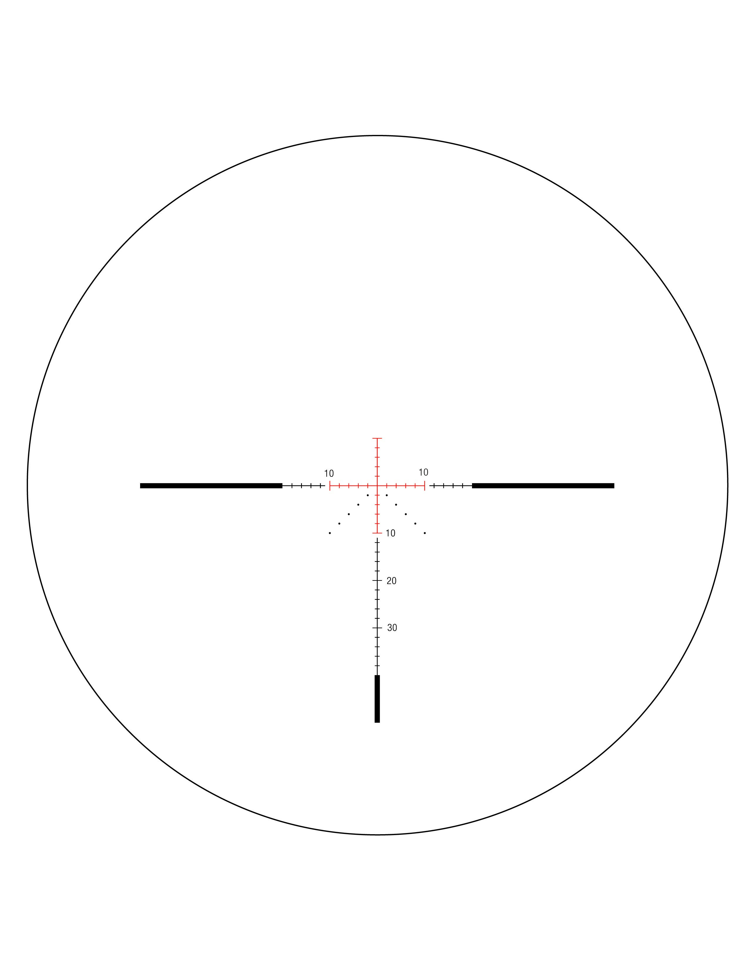 Trijicon AccuPower 3-9x40mm Rifle Scope - MOA Crosshair Reticle w/ Red LED  1 in  Tube