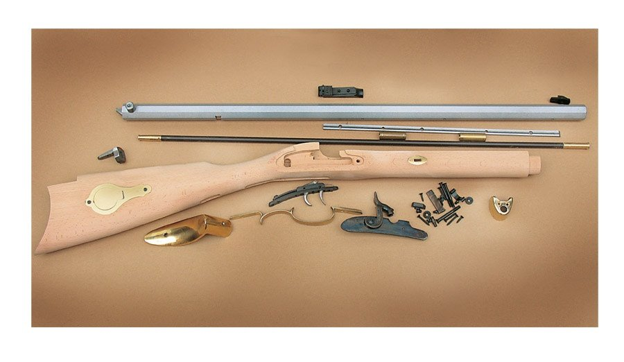 Traditions St  Louis Hawken Rifle Build-It-Yourself Kit Select Raw Hardwood   50 Cal 28
