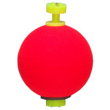 "Comal Tackle Snap-on Weighted Round Float .75"" 1pk - Red"