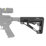 Hogue AR-15/M-16 Collapsible Buttstock - Fits Mil-Spec Buffer Tube Only Black