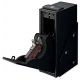 Stack-On Quick Access Single Gun Safe with Biometric Lock and Shelf