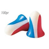 USA Shooters Earplugs, 100 pair pack  red/White/blue