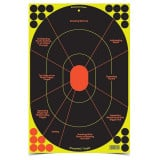 Birchwood Casey Shoot-N-C Handgun Trainer Target 12x18 5 Pack with 90 Pasters