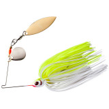 Booyah Tandem Blade Spinnerbait Lure 1/4 oz - White Chartreuse