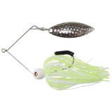 """Tim Poe Thunder Lures Single Blade Spinnerbait 1/8 oz 3-1/2"""" - Willow Nickel/Chartreuse/White"""
