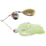 """Tim Poe Thunder Lures Double Blade Spinnerbait 1/8 oz 1-1/2"""" - Indiana Gold/Chartreuse & White"""