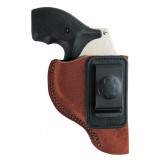 """Bianchi Model 6 Waistband Holster - Colt Detective Special 2"""", Left Hand, Rust Suede"""