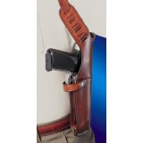 "Bianchi Model X15 Shoulder Holster, 6"" -6.5"" Right Hand, Plain Tan, Cross Draw"