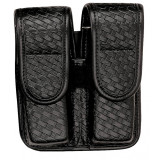 Bianchi Model 7902 Double Mag Pouch, for Glock 20, 21, Basket Black, Hidden Snap