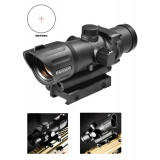 Barska Electro Sight Tactical Red Dot Rifle Scope  - 1x30mm Red IR Cross 54' Unlimited Matte