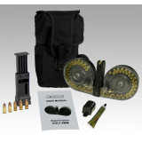C-Mag Magazine System - Magazine with Cover, Personal Loader, Pouch, Technical Manual, Graphite Tube, 100 rds. - Colt 9mm, Clear Cover
