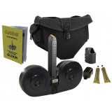 C-Mag Magazine System - Magazine with Cover, Personal Loader, Pouch, Technical Manual, Graphite Tube, 100 rds. - 9mm Glock 17, Black Cover