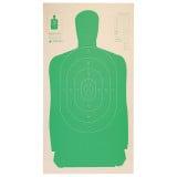 """Champion LE Targets Cardboard Silhouette Target - 24"""" X 45"""", Green, 25/Pack"""
