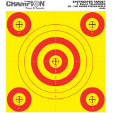 Champion Shotkeeper Targets Yellow & Red 5 Bull, Small, 12/Pack