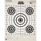 Champion Scorekeeper Targets Black Bull - 100 yd. Rifle Sight-In, 12/Pack
