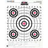 Champion Scorekeeper Targets Fluorescent Orange Bull - 100 yd. Rifle Sight-In, 12/Pack