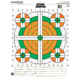 Champion Scorekeeper Targets Fluorescent Orange & Green Bull - 100 yd. Rifle Sight-In, 100/Pack