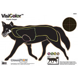 "Champion VisiColor High-Visibility Paper Targets Coyote, 11"" X 16"", 10/Pack"